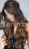Extensiones del pelo humano de Remy del color oscuro Clip-en la versión del lujo de Extenions