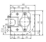 Querfluss-Kühlventilator Input Wechselstrom-220V