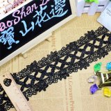 Merletto chimico di immaginazione della guarnizione del ricamo del poliestere del merletto del commercio all'ingrosso 7.5cm della fabbrica del ricamo di nylon di riserva di larghezza per l'accessorio degli indumenti & tessile & tende domestiche