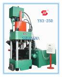 Máquina hidráulica de la prensa de enladrillar del serrín del metal