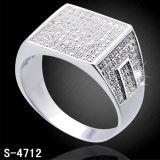 Micro anello dei monili dell'argento della regolazione per l'uomo Hotsale
