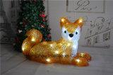 Acrílico decoraciones de Navidad luz con luz LED de madera de Navidad