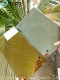 Espejo de cristal teñido de flotador con la superficie y la superficie visible (bujía métrica) del espejo