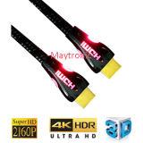 1.4V de Goud Geplateerde Kabel HDMI van uitstekende kwaliteit met LEIDEN Licht