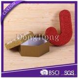 Custom Design forme ronde Cadeau de Noël Boîte de papier avec ruban