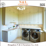 N & L White High Gloss Lacquer Laundry Room Gabinete