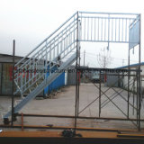 Escalier en métal galvanisé avec main courante