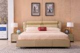Shunde 가정 침실 가구 현대 가죽 연약한 침대 9561