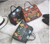 2017熱い流行の刺繍によっては開花する女性(XR510701)のための戦闘状況表示板のハンドバッグが