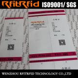 Autoadesivo passivo dell'autoadesivo RFID di colore di frequenza ultraelevata 860-960MHz per vestiti
