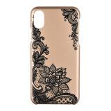 Couverture dure protectrice mince lustrée de luxe de cas de configuration de fleurs d'ajustement de C&T pour l'iPhone 8
