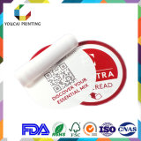 Étiquettes adhésives estampées par papier en plastique de soin de beauté