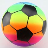 OEM多彩なPVCフットボールか膨脹可能なおもちゃの球またはサッカーボール