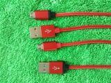 Микро- кабели кабеля шнура Sync поручать и данным по USB сплетенные тканью