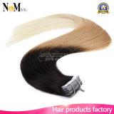 Da qualidade superior de trama do cabelo humano da pele extensões douradas do cabelo da fita do cabelo humano