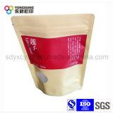 Sac de empaquetage personnalisé de fruit sec de papier d'emballage avec le zip-lock