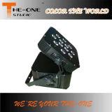 6in1 kan het Vlakke PARI van LEIDENE 12*17W RGBWA+UV Powred van de Radio en van de Batterij