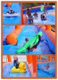 corrediça urbana longa da laranja de 300m e de água da cor de Bule para o divertimento do verão