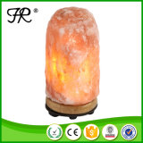 木ベースが付いているヒマラヤ自然な塩ランプ夜ライト
