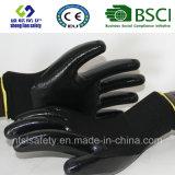 interpréteur de commandes interactif du polyester 13G avec les gants de travail enduits par nitriles (SL-N111)