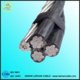 Câble empaqueté aérien AAC ACSR d'ABC de conducteur supplémentaire d'alliage d'aluminium de qualité/câble ABC de PVC