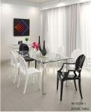 De moderne Elegante Aangemaakte Roestvrije Benen van de Eettafel van de Olifant van het Glas (nk-dt277-1)