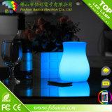 Polietileno batería recargable inalámbrica portátil LED maceta lámpara de mesa de diseño