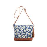Spring Leisure Canvas Floral Tassel Designer Messenger Bag (MBNO042123)
