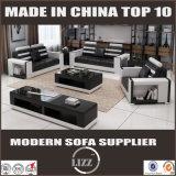 Da sala de visitas italiana do projeto da boa qualidade sofá de couro material puro Lz2188 ajustado
