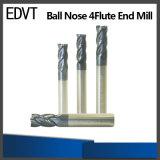 Edvt 4fluteの球の鼻の端製造所の切削工具