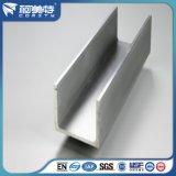 6063-T5 Aangepaste Grote Sectie Aluminium U-vorm Extrusie Profiel