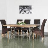 無作法なリサイクルされたニレの鉄によって決め付けられるダイニングテーブル(Dt4061)
