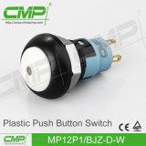 青いヘッドが付いている防水プラスチック押しボタンスイッチ