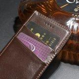 Cajas universales del cuero de la carpeta del tirón de cuero de lujo con el clip de la correa