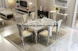 La Tabella pranzante di vendita del marmo del blocco per grafici superiore caldo moderno dell'acciaio inossidabile ha impostato con 6 Seater
