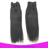 똑바로 브라질 Virgin 머리, 100% 사람의 모발 연장