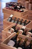 Estante de madera del rectángulo de almacenaje de la botella del estante o de la bebida del vino