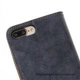 Jeans-Retro lederner Mappen-Handy-Fall für iPhone
