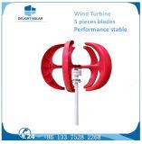turbina de vento de alumínio das lâminas das lâminas verticais do gerador três da linha central 600W