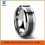 Ring van het Wolfram van de Vezel van de Koolstof van de Juwelen van Shineme de Zwarte (TST2827)