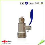"High Quality Short Inlet T-Connector + 1/4 "" Metal Ball Valve"