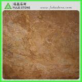 Gelbe goldene Osmanthus-Marmor-Marmorierungplatte