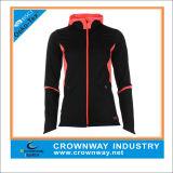 カスタムロゴの女性のスポーツ・ウェアの体操の摩耗の連続したジャケット
