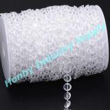 결혼식 장식 10mm 명확한 다이아몬드 수정같은 구슬 사슬