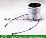 Sc-Rue avec la fibre noire Patchcord optique du SM 9/125 3.0mm LSZH de bouchon anti-poussière