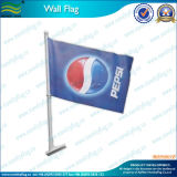Poliestere Wall Mounted Flags con Plastic Palo (T-NF12F10007)