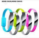 Câble usb de remplissage magnétique de Portable de câble de câble de caractéristiques de bracelets de silicones de bande