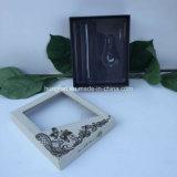 Rectángulo clásico del conjunto del papel del perfume del diseño con la ventana del PVC