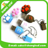 USB personalizado elegante da borracha para a promoção (SLF-RU006)