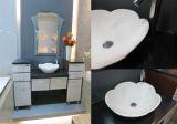 Bacia sanitária de pedra de superfície contínua acrílica do banheiro dos mercadorias do projeto novo